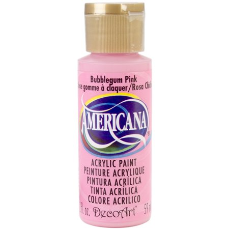Americana Acrylic Paint 2oz Bubblegum Pink Opaque
