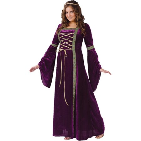 Renaissance Lady Adult Plus Halloween Costume  Size  16W 20W   One Size