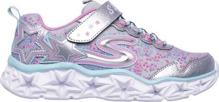 Skechers Kids Galaxy Lights Sneaker,Silver/Multi,12.5 Medium US Little Kid