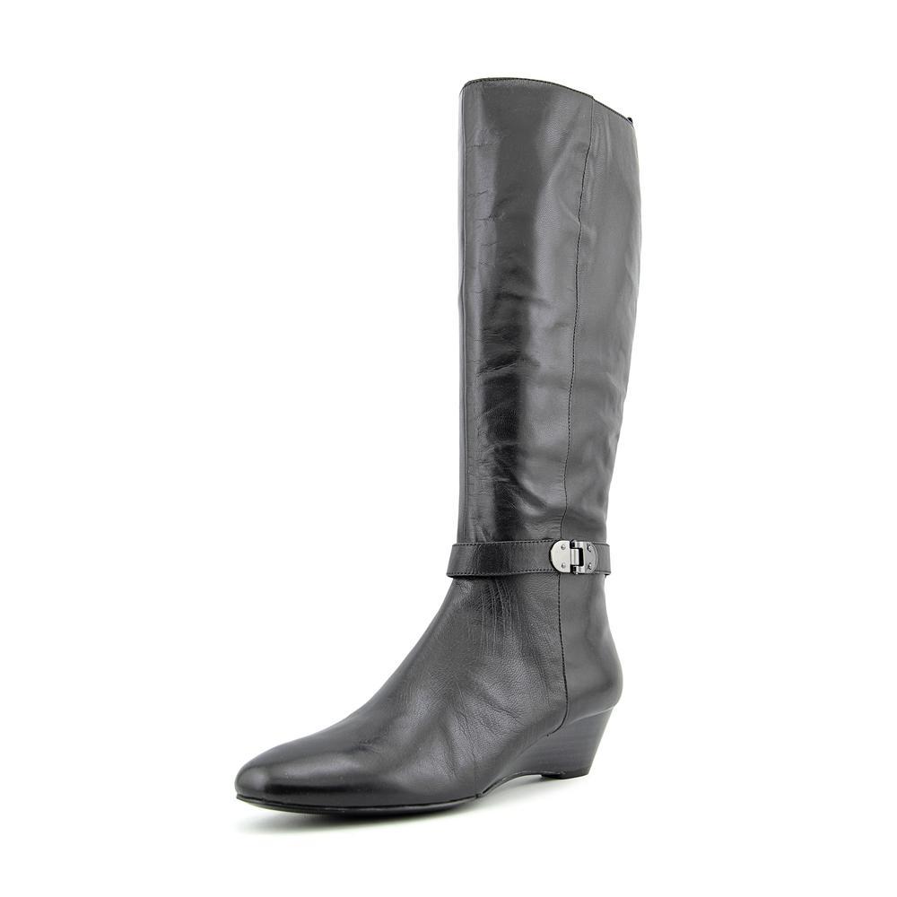 Bandolino Adanna Women  Pointed Toe Leather Black Knee Hi...