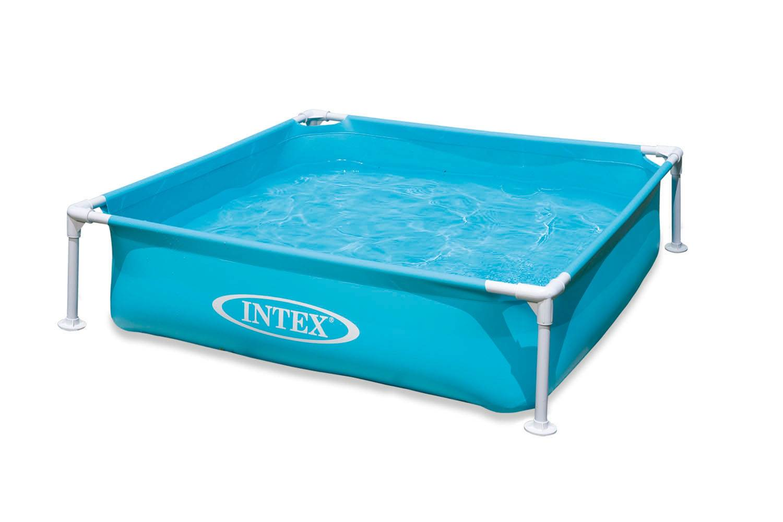 Intex Mini Frame Kids 4ft X 4ft X 12in Beginner Kiddie Swimming Pool 2 Pack Walmart Com Walmart Com