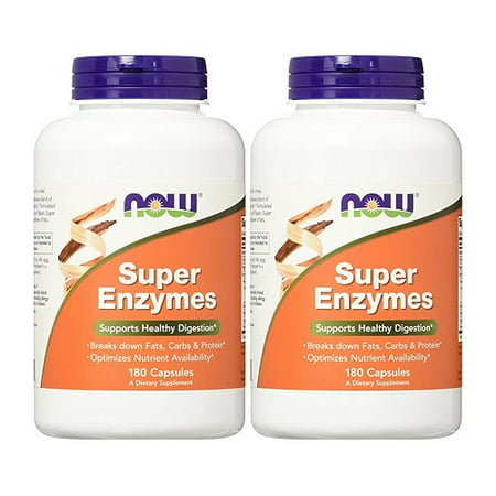 Now Foods - Super Enzymes 180 Capsules (Pack of 2)