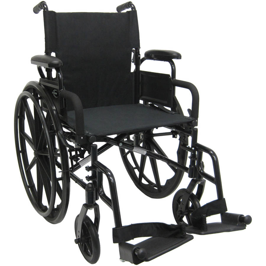 "Karman 802-DY 30 pounds Lightweight Wheelchair with Flip Back Armrest, 18"" seat"