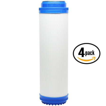 4-Pack Replacement GE GX1S01R Granular Activated Carbon Filter - Universal 10-inch Cartridge for GE SINGLE STAGE DRINKING WATER FILTRATION UNIT - Denali Pure Brand