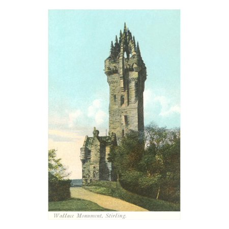 Wallace Monument, Stirling, Scotland Print Wall - Wallace Glass Print