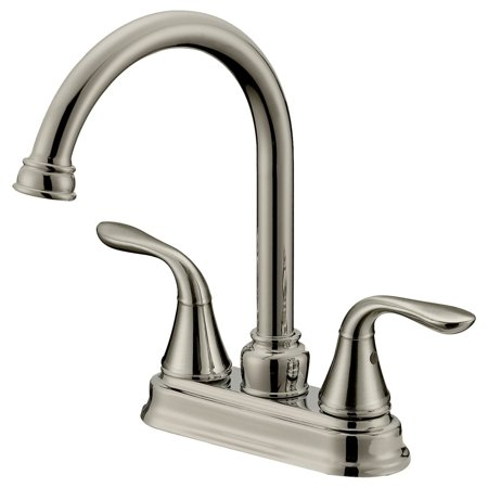 LessCare Long Neck Bar/Bathroom Faucet LB6B, Brushed Nickel Finish (4 In Spread