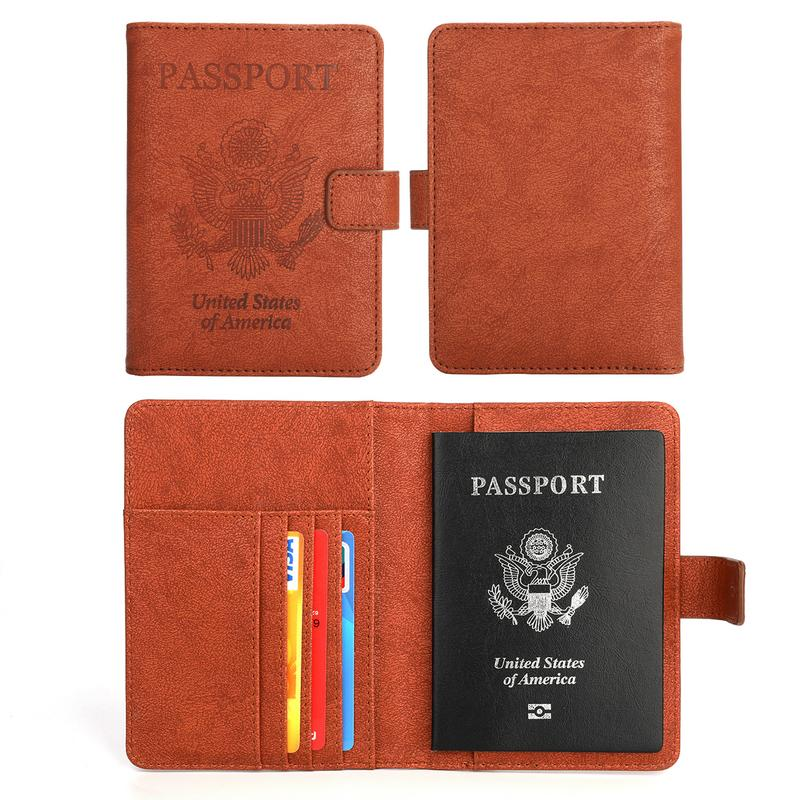 Seenda RFID Blocking Passport Holder,Vivefox Universal Travel Passport wallet PU Leather passsport cover case with zipper for womens and mens -Id Card Cover Securely Holds Passport