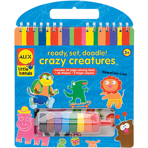 ALEX Toys Ready, Set, Doodle Kit. Crazy Creatures
