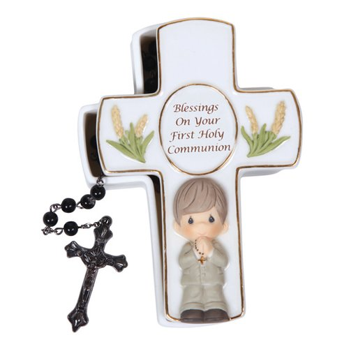 Precious Moments Blessings On Your First Holy Communion Covered Box with Rosary