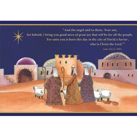 Designer Greetings Journey of the Magi Box of 18 Religious Christmas Cards - Religious Christmas Card Sayings