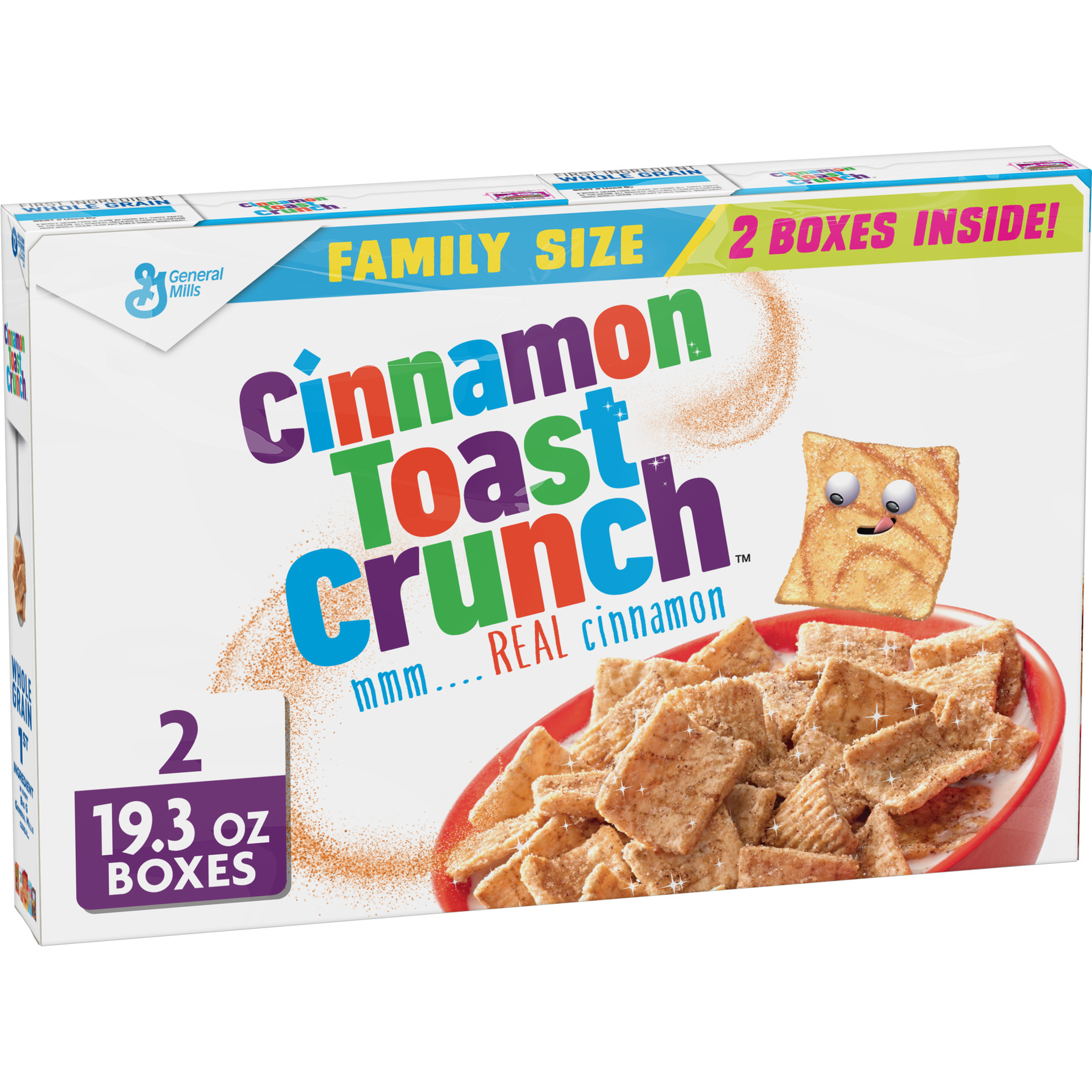 (2 Pack) Cinnamon Toast Crunch Cereal  Family Size