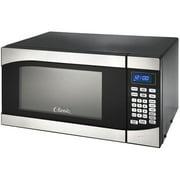 900 Watt .9 Cu.Ft. Black Countertop Microwave Oven, with Stainless Steel Trim