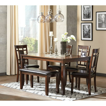 Signature Design By Ashley Bennox 6 Piece Dining Table Set Walmartcom