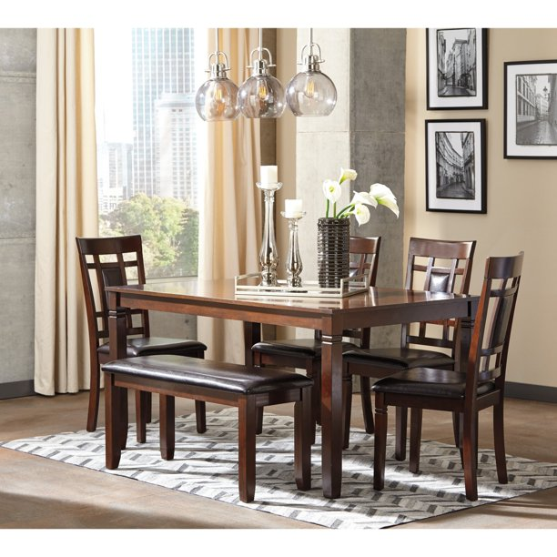 Signature Design by Ashley Bennox 6 Piece Dining Table Set
