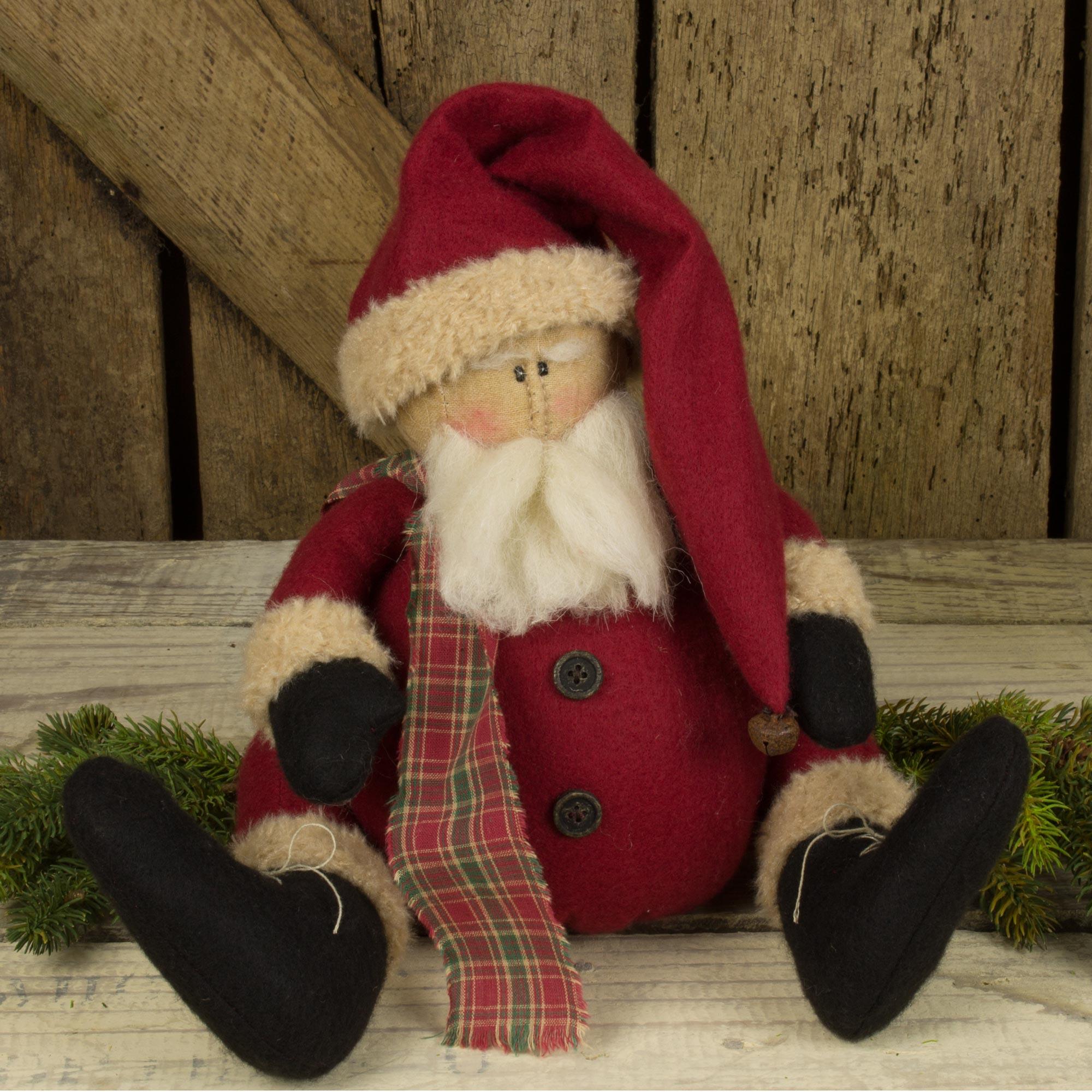 Sitting Chubby Santa