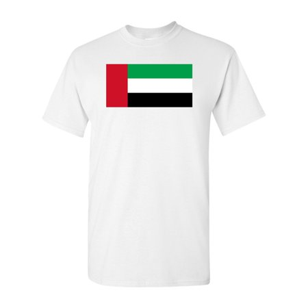 United Arab Emirates Country Flag Adult DT T-Shirt - Adult Arab