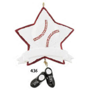 MLB Baseball Star Glitter Personalized Christmas Ornament DO-IT-YOURSELF - Baseball Christmas