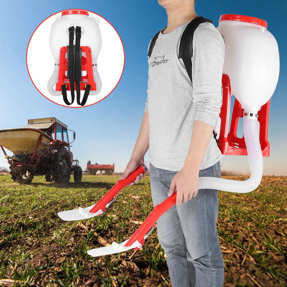 20L Seed Spreader Backpack Fertilizer Garden Seeding Spreader for Garden Lawn Caring and Farmer Manual Seed Spreader