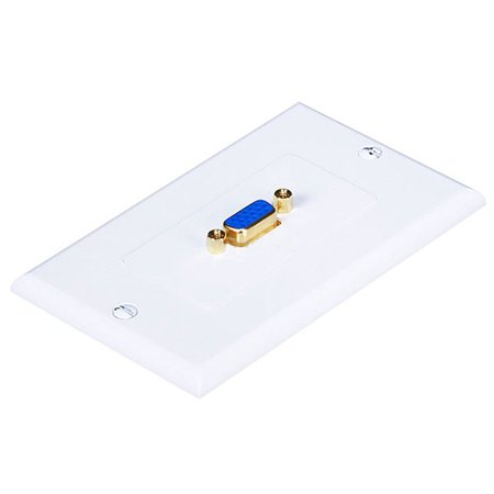 Svga Wall Plate - Monoprice 1-Port SVGA Coupler Female/Female Wall Plate - Gold Plated