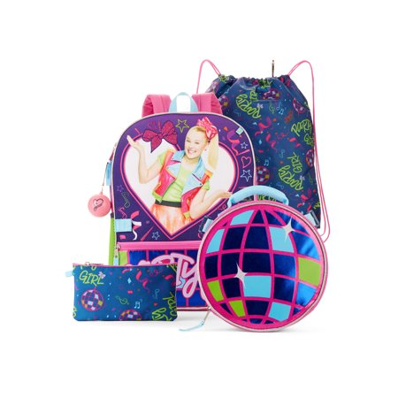 Girly School Supplies (JoJo Siwa Party Girl 5-Piece Backpack)
