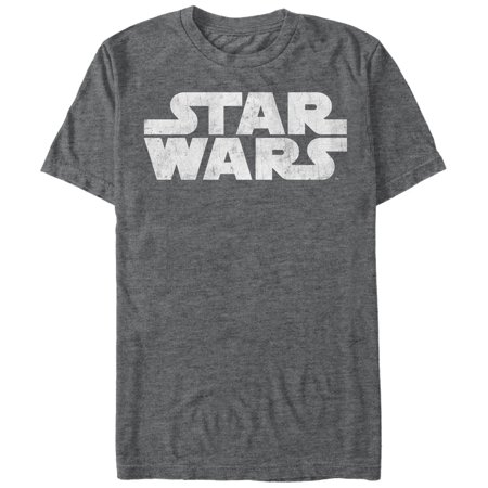 Star Wars Men's Simple Logo T-Shirt (Simple Logo Black And White)