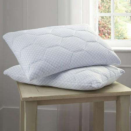 Pure Rest Cooling Gel Memory Foam Amp Loft Reversible Pillow