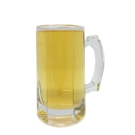 16 Oz Beer Mugs (set of 2 - Heavy Duty 16 oz Decagonal Glass Beer Mug Thick glass Beverage)