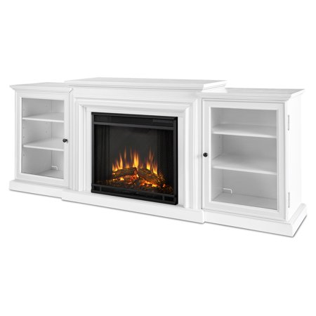 Real Flame Frederick Entertainment Center Electric Fireplace   Blackwash