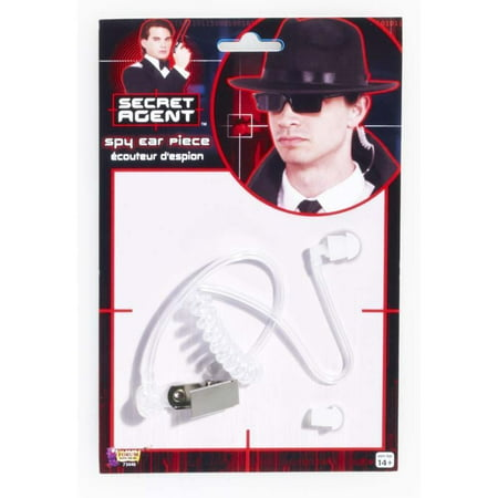 Spy Secret Agent Earpiece Detective Security Guard Ear Piece Costume Accessory