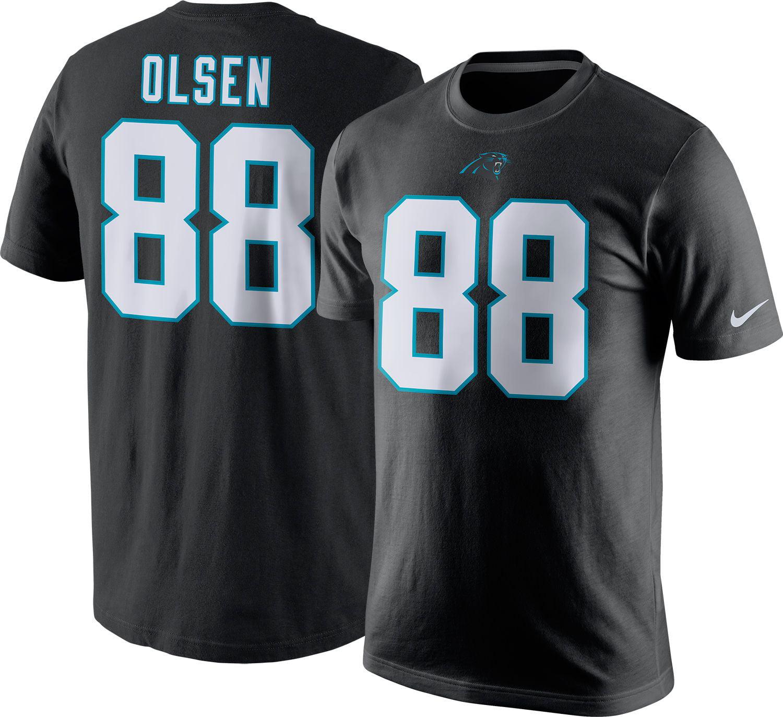 Nike Men's Carolina Panthers Greg Olsen #88 Pride Black T-Shirt