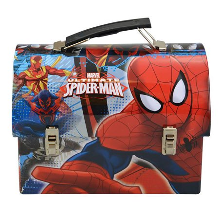 Lunch Box Spider-Man Stainless Steel Utility Tin Lunch Box](Spiderman Lunch Box)