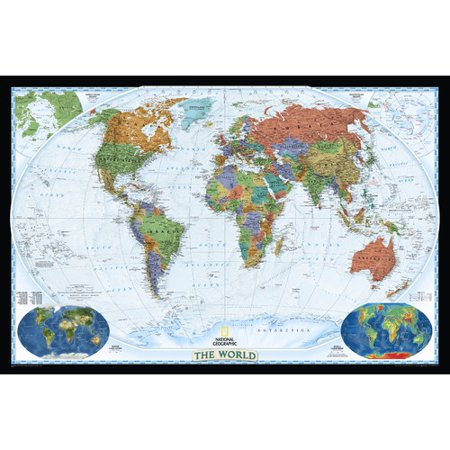 National Geographic Maps World Decorator Wall (The Domain Store Map)