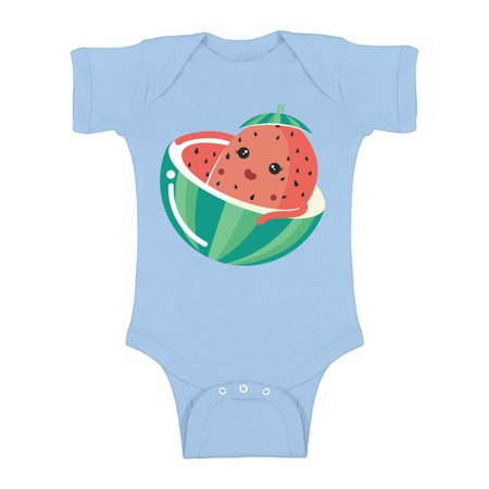 Awkward Styles Watermelon Baby Bodysuit Short Sleeve for Girls Watermelon Baby Clothes Romper for Boys Watermelon Outfit Fruits One Piece Top Berry Romper for Newborn Baby Items Cute Fruits Bodysuit (Watermelon Bodysuit)