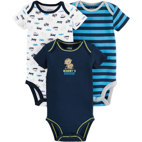 Child Of Mine by Carter's Newborn Baby Boy Bodysuits, 3-Pack