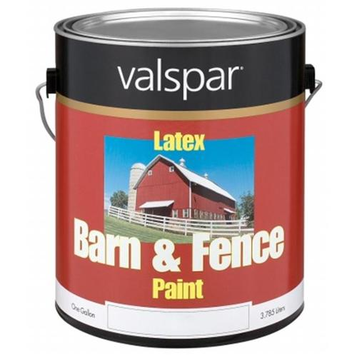 Valspar Brand 1 Gallon Red Exterior Barn & Fence Latex Paint  18-3121-10 GL - Pack of 4