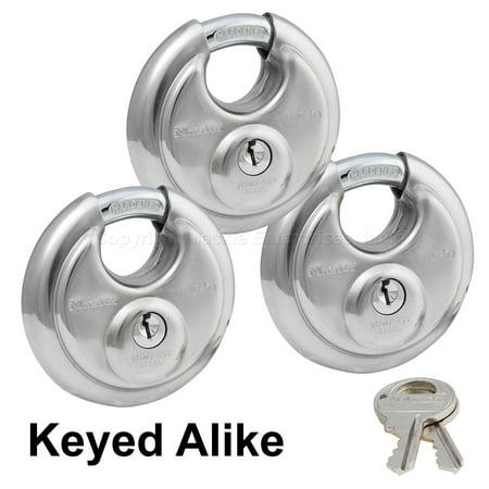 Master Stainless Lock - 40KA3 - (3) Keyed Alike Trailer Locks