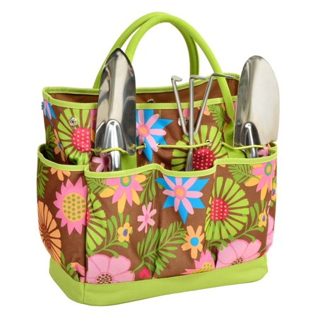 Floral Gardening Tote with Tools