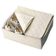 NATURAL QUILTED CHINA STORAGE Natural/Cotton Cup Chest