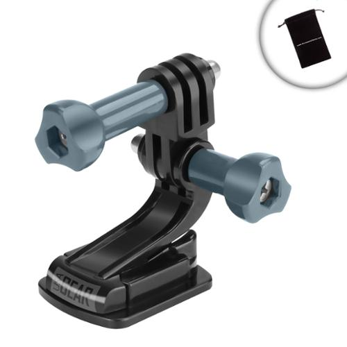 Tough Action Flat Adhesive Camera Mount with J Hook and Tripod Screw by USA Gear - Works With Fujifilm FinePix , Nikon Coolpix , Olympus Tough & More