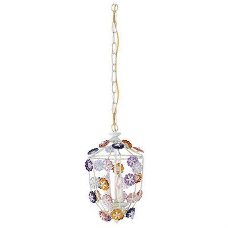 Crystorama Paris Flea Market - Four Light Mini Chandelier, Rose Hand Cut Crystal