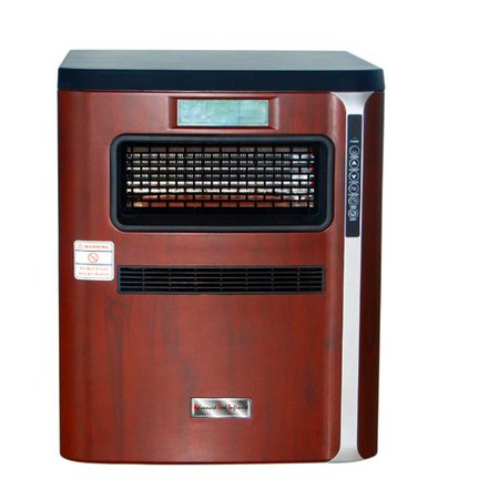 Advanced Tech Infrared 1 500 Watt Portable Electric Infrared Cabinet Heater With Air Purifier  Hepa Filter  Humidifier