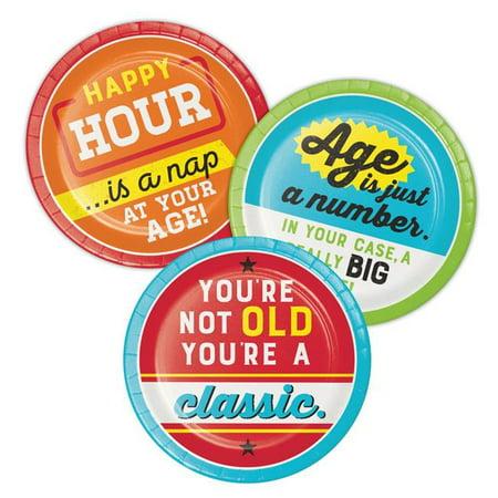 Creative Converting 339858 Old Age Humor Dessert Plates, 8 Count - image 1 de 1