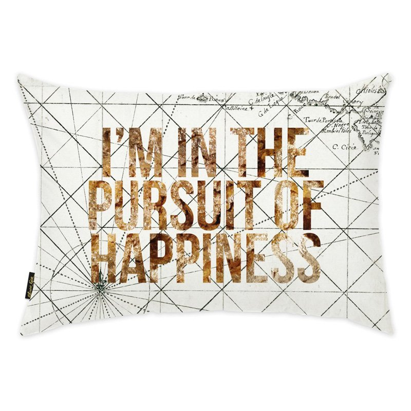 Oliver Gal 14 x 20 in. Pursuit of Happiness Throw Pillow