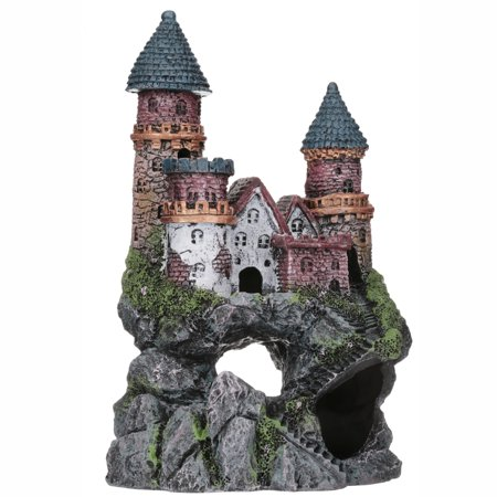Penn-Plax Deco-Replicas Enchanted Castle Aquarium Ornament, Large