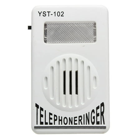 Grtsunsea White ON OFF Switch Extra-Loud Telephone Ring Sound Amplifier Strobe Light Flasher Bell Ringer Up To 95dB