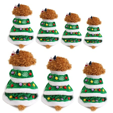 Christmas Tree Pet Dog Cat Coat Cat costume Halloween Puppy Dog Clothes Cat Costumes Apparel](Clothes For Halloween)
