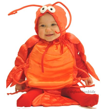 Baby Halloween Costumes - The ORIGINAL Lobster Costume - In Stock! INFANT 6-18 months - Pascal Halloween Costume Baby