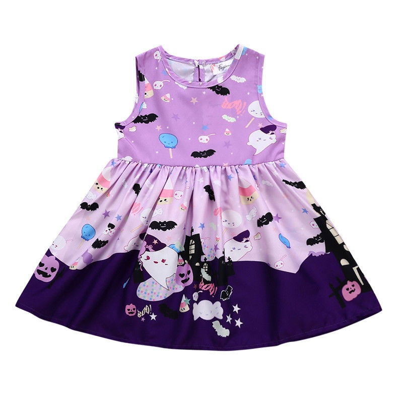 Emmababy Canis Halloween Toddler Kids Baby Girls Cotton Party Prom