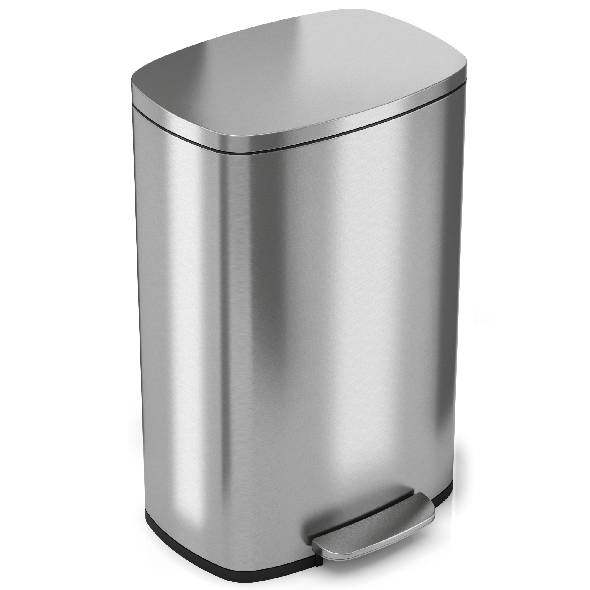 50 Liter SoftStep Stainless Steel Step Kitchen Trash Can by