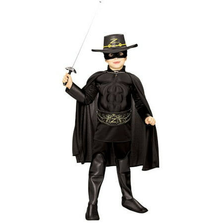 Zorro Muscle Chest Deluxe Costume - Toddler Zorro Costume